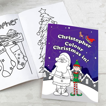 Personalised Christmas Elf Colouring Book