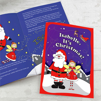 Personalised 'It's Christmas' Girl's Fairy Story Book