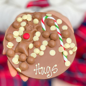 Personalised Christmas Chocolate Letterbox Hug