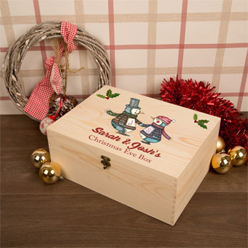 Dancing Penguins Couples Bespoke Christmas Eve Box