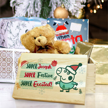 Peppa Pig George Pig Personalised Christmas Eve Box