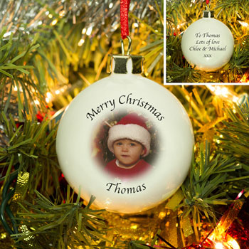 Personalised Photo Christmas Tree Bauble