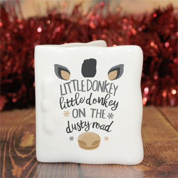 Personalised Bone China Little Donkey Message Card