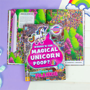 Personalised Where's the Magical Unicorn Poop A4 Book