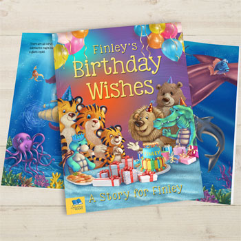 Children's Birthday Wishes Personalised A4 Book