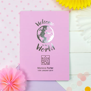 Baby Girl's Personalised Book About You Welcome to the World