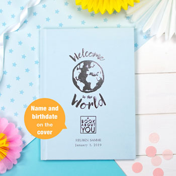 Baby Boy's Personalised Book About You Welcome to the World