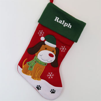 Luxury Personalised Pet Dog Christmas Stocking
