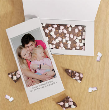 Photo Upload Personalised Milk Chocolate Bar Letterbox Gift