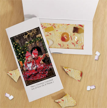 Personalised Photo Upload White Chocolate Bar Letterbox Gift