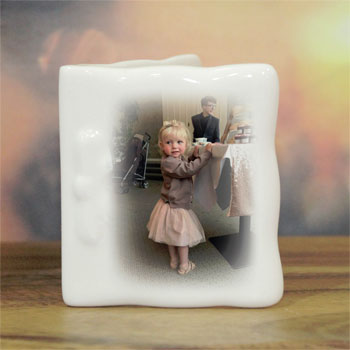 Personalised Photo Bone China Message Card