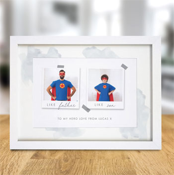 Like Polaroid A4 Framed Print Personalised Photo Frame