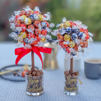 Personalised Mixed Lindt Lindor Sweet Tree