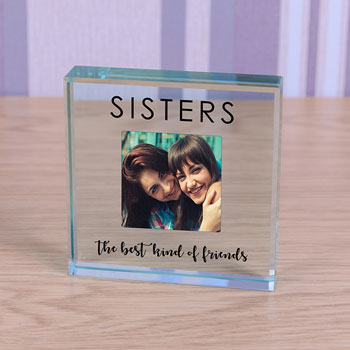 Sisters Glass Photo Token