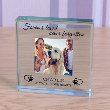 Personalised Pet Photo Memorial Token Always in our Hearts