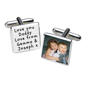 Personalised Photo Cufflink Any Text