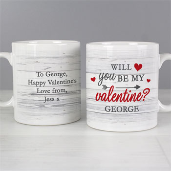 Personalised Will You Be My Valentine Ceramic Mug