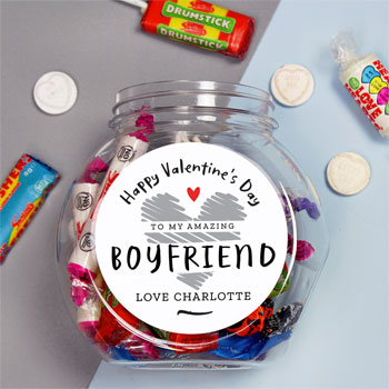 Personalised Valentines Day Gift Sweet Jar