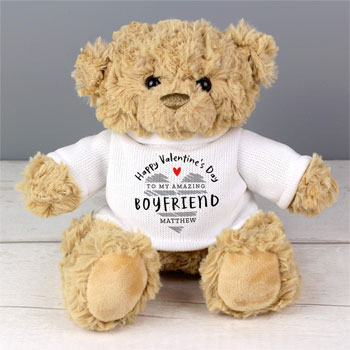 Personalised Valentines Day Teddy Bear