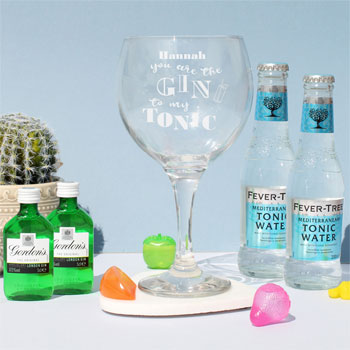 Personalised Gin To My Tonic Gin & Tonic Gift Set