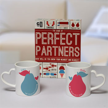 Personalised Perfect Partner's Game Set With Mugs