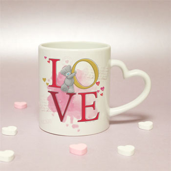 Bespoke Me To You Tatty Teddy Love Heart Handled Mug