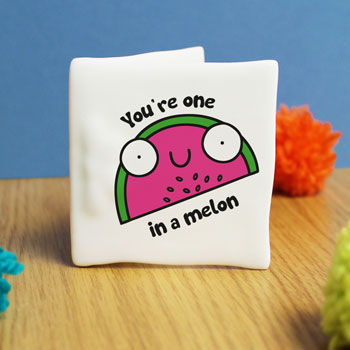 One In A Melon Personalised China Message Card