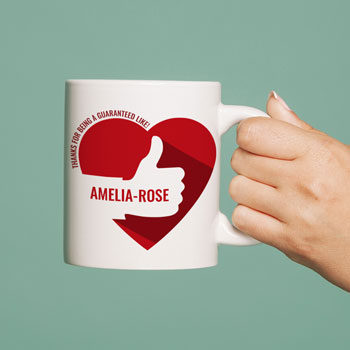 Personalised Guaranteed Like Ceramic Mug