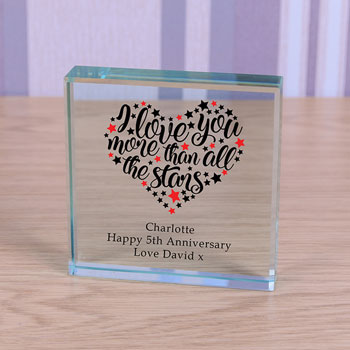 Personalised Glass Token All the Stars