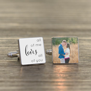 All of Me Loves All of You Photo Cufflinks