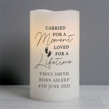 Personalised Carried For A Moment Led Infant Loss Candle