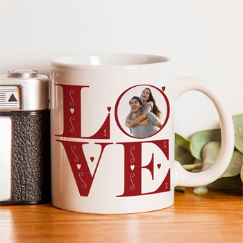 Love Photo Upload Ceramic Mug