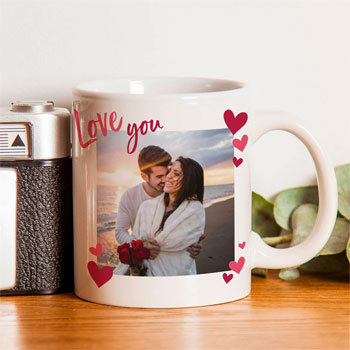 Love You Photo Upload Ceramic Mug