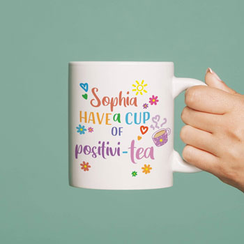 Personalised Cup Of Positivi-tea Mug