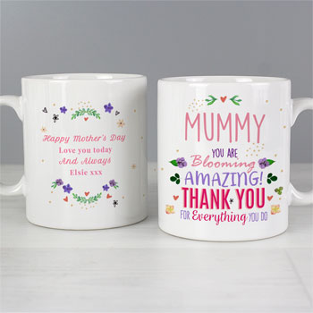Personalised You Are Blooming Amazing Ceramic Mug