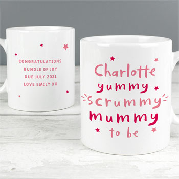 Personalised Yummy Scrummy Mummy To Be Mug
