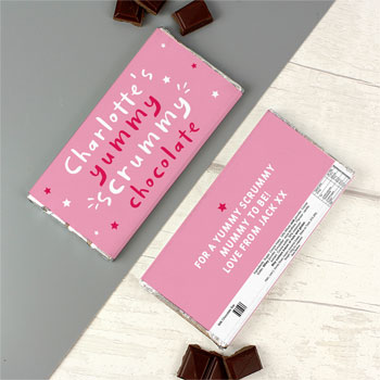 Personalised Yummy Scrummy Milk Chocolate Bar Free Delivery