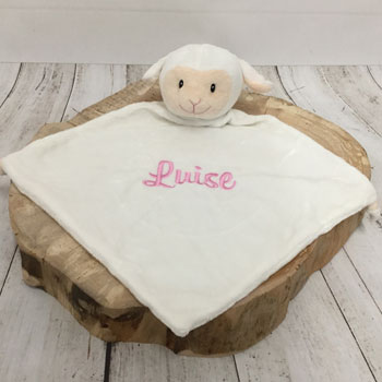 Personalised Cubbies Loverby Lamb Comforter Pink or Blue