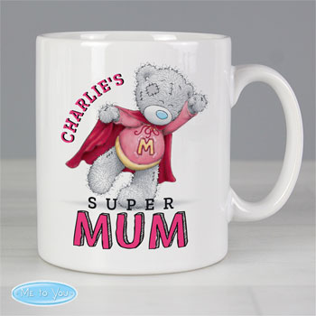 Personalised Me To You Ceramic Super Mum Mug