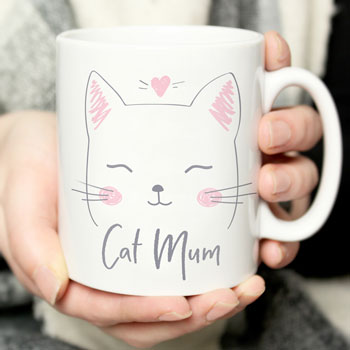 Personalised Ceramic Cat Mum Mug