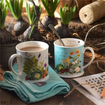 Personalised RHS Two Mug Gift Set