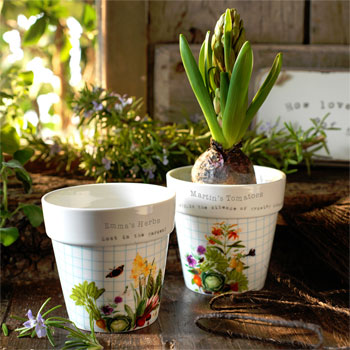 Personalised RHS Two Planter Set