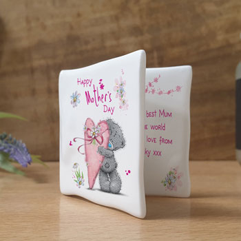 Personalised Me To You Mother's Day Ceramic Message Card