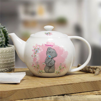 Personalised Me To You Tatty Teddy Floral Teapot