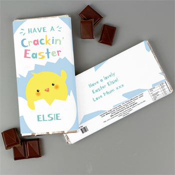 Kid's Personalised Have A Cracking Easter Milk Chocolate Bar