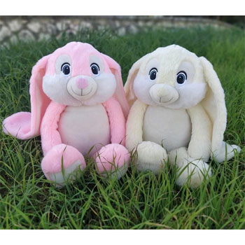 Kid's Personalised Hidey Boo Bunny - Grey, Pink or White