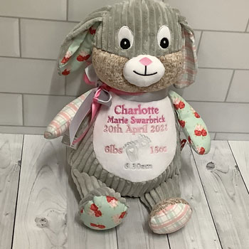 Girl's Personalised Cubbies Harlequin Bunny Chic Edition
