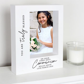 5x7 Personalised Truly Blessed 1st Holy Communion Box Frame