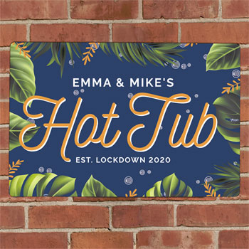 Personalised Hot Tub Metal Sign
