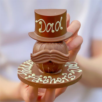 Men's Personalised Terry's Chocolate Orange Hat & Moustache